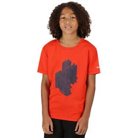 Regatta Alvarado V T-Shirt Enfant, rouge